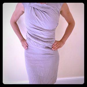 Helmut Lang silk blend dress